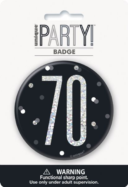 Glitz Black Age 70 Badge